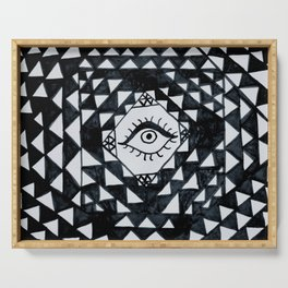 Eye geometric pattern Serving Tray