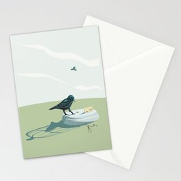 bird baiting Stationery Cards