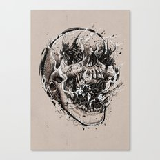 skull with demons struggling to escape Canvas Print