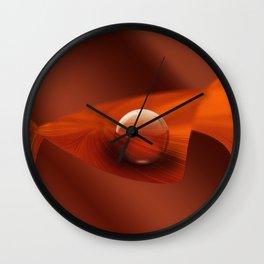 Orange Ball Wall Clock