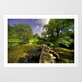 Tarr Steps in Autumn  Art Print