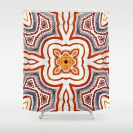 India Print Two Shower Curtain