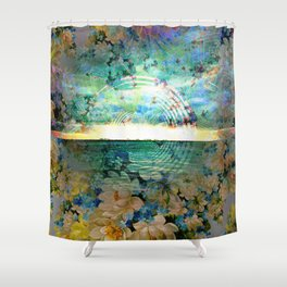 Floral Ocean Kaliedoscope Shower Curtain