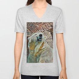 Toony Polar Bear Unisex V-Neck