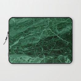 Dark emerald marble texture Laptop Sleeve