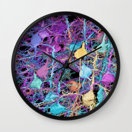 Cortical Brain Neurons by Kfay Wall Clock