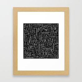 Horns B&W Framed Art Print
