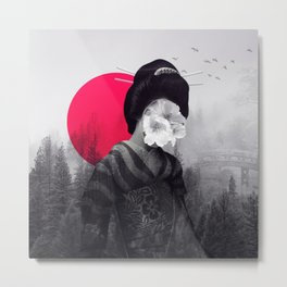the geisha Metal Print