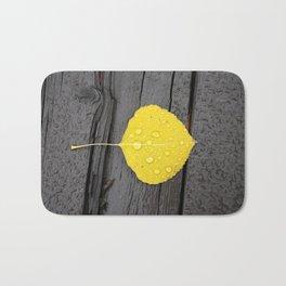 Water Droplets on Aspen Leaf Bath Mat
