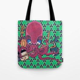 Kuniyoshi Musical Octopus with Bishamon Kikko Background Tote Bag