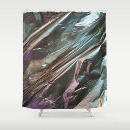 Faux Metalic Foil Shower Curtain