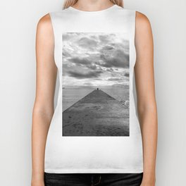 Pyramid at the sea in Cannes Black and white photography Biker Tank