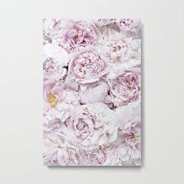 BED OF FLOWERS - PEONY PINK Metal Print