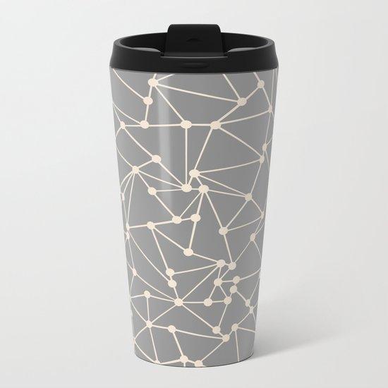 Ab Out Spots Grey Metal Travel Mug