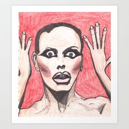 "Alyssa Edwards; ""She was the one backstabbing me behind my back!"" Art Print"