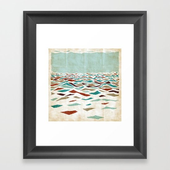 Sea Recollection Framed Art Print