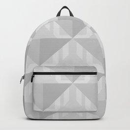 Gray Pattern Darts Backpack