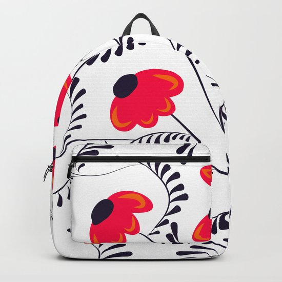 Beauty simple seamless floral pattern swirl Backpack