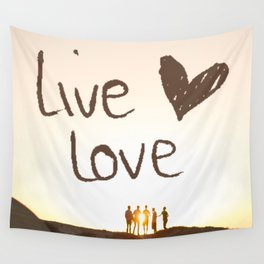 Live Love Wall Tapestry