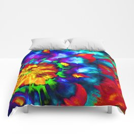 Groovy Tie Dyed Square Comforters