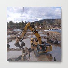 River Work Metal Print
