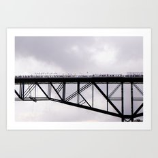 Walkway Over the Hudson, Opening Day Art Print