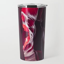 Different shades of red in Antelope Canyon Travel Mug