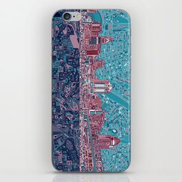 cincinnati city skyline iPhone Skin