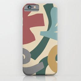 Mid Century Modern Organic Abstraction 923 iPhone Case