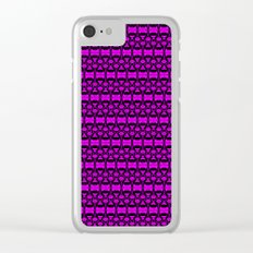 Dividers 02 in Purple over Black Clear iPhone Case