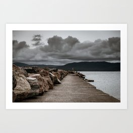 Long Solid Wharf Art Print