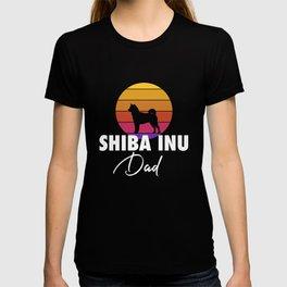 Shiba Inu Dad Shiba Inu Dog Lover Japanese Puppy Gift T-shirt