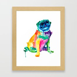 Abstract Pug Framed Art Print