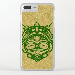 Grass Frog Sand Clear iPhone Case