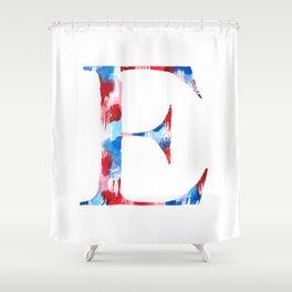 Letterforms : E Ella Shower Curtain