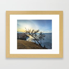 Harsh beauty of lake Baikal Framed Art Print