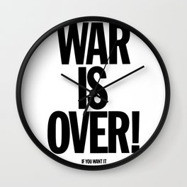 War Is Over - If You Want It Wall Clock