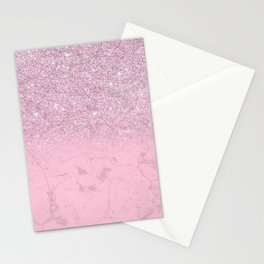 Abstract Pink Lavender Marble Glitter Gradient Stationery Cards