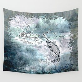 Fishing swordfish Wall Tapestry