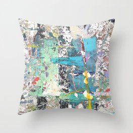 Street abstract graffiti with transparent Throw Pillow