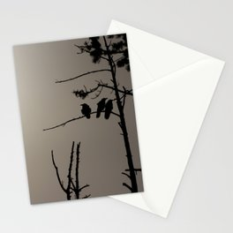 Three Crows Stationery Cards