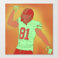 49ers Canvas Prints featuring 49ers Anquan Boldin by Courtney Charlton