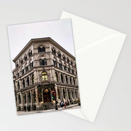 Old Historic Building in Vieux Montreal Old Town Stationery Cards