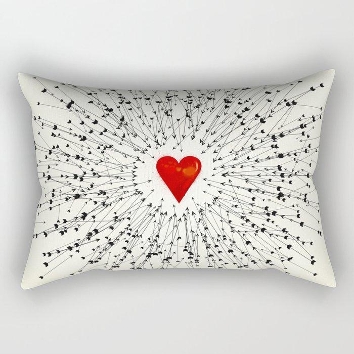Heart&Arrows Rectangular Pillow