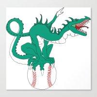 dragonball Canvas Prints featuring DragonBall by GodlyAnimator