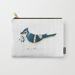Blue Jay Bird Carry-All Pouch