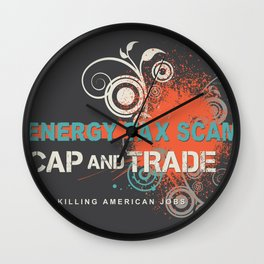 Energy Tax Scam Wall Clock