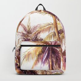 Palm Trees, coconut palms tropical beach palm tree Backpack