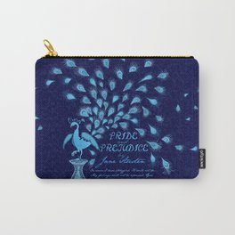 Paisley Peacock Pride and Prejudice: Classic Carry-All Pouch