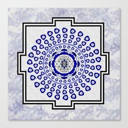 108 Evil Eye Sri Yantra Canvas Print
